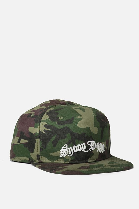 Snoop Dog Snapback Hat, LC/CAMO/SNOOP DOGG