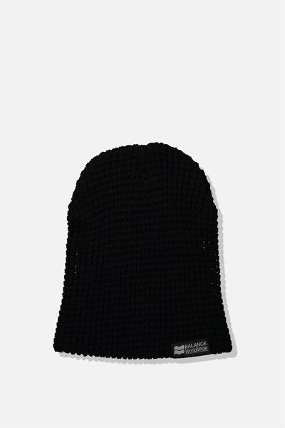Hopper Beanie Nu, BLACK/BALANCE WORLDWIDE