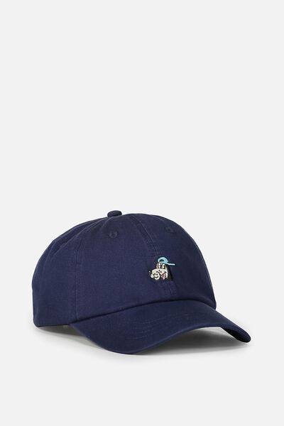 Strap Back Dad Hat, NAVY/HOUND DOG