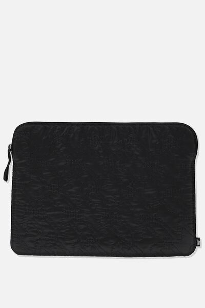 13 Inch Laptop Sleeve, BLACK/QUILTING