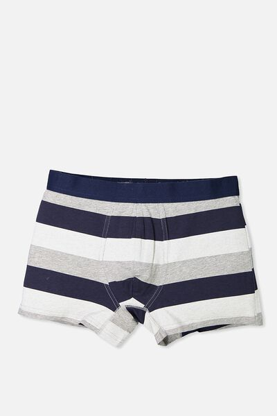 Single Hanging Trunks, GREY MARLE/NAVY STRIPE