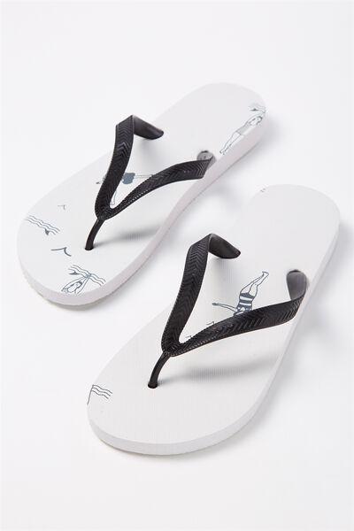 Bondi Flip Flop, DAISY DIVER/WHITE