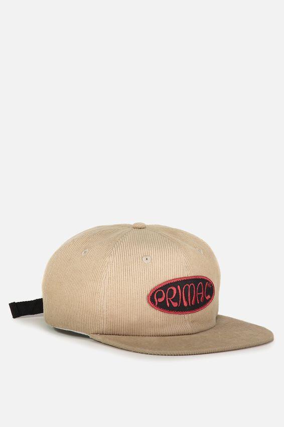 6 Panel Hat, SAND CORDUROY/PRIMAL