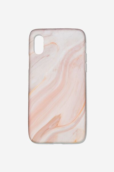 Essential Phone Cover Iphone X, PINK MARBLE