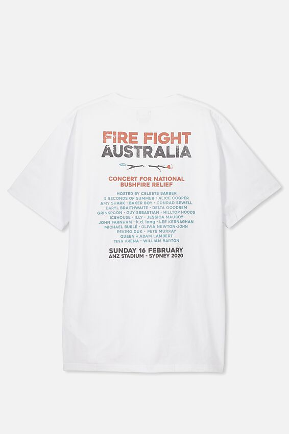 Fire Fight Festival Tee, WHITE