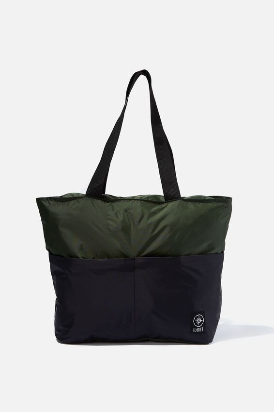 Packable Tote, HIKING GREEN/BLACK