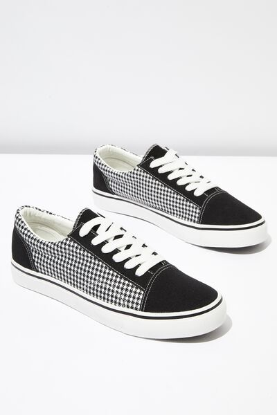 Axell Skate Shoe, BLACK/HOUNDSTOOTH