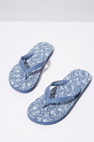Bondi Flip Flop, SOFT BLUE/CLASSIC PAISLEY