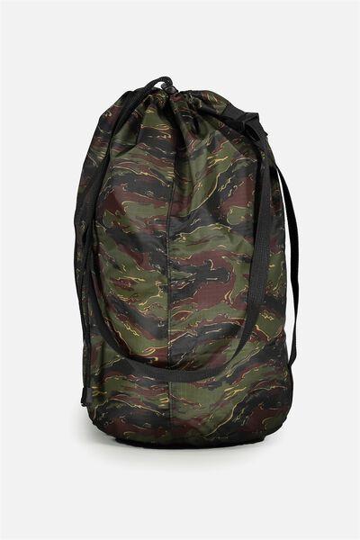 Nylon Satchel Bag, TIGER CAMO