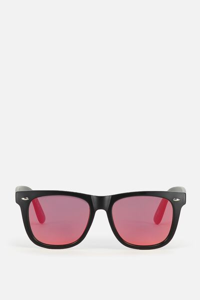 Ferris Sunnies, MATTE BLACK/RED SMOKE