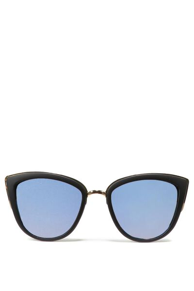Gigi Cat Eye Sunnies, BLACK/LIGHT BLUE