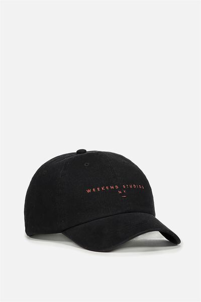 Strap Back Dad Hat, BLACK/WEEKEND STUDIOS