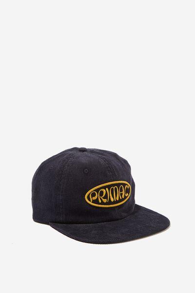 6 Panel Hat, NAVY CORDUROY/PRIMAL