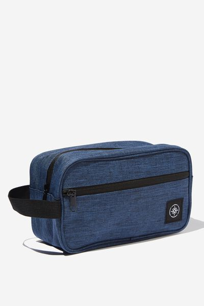 Transit Wash Bag, NAVY CROSSHATCH