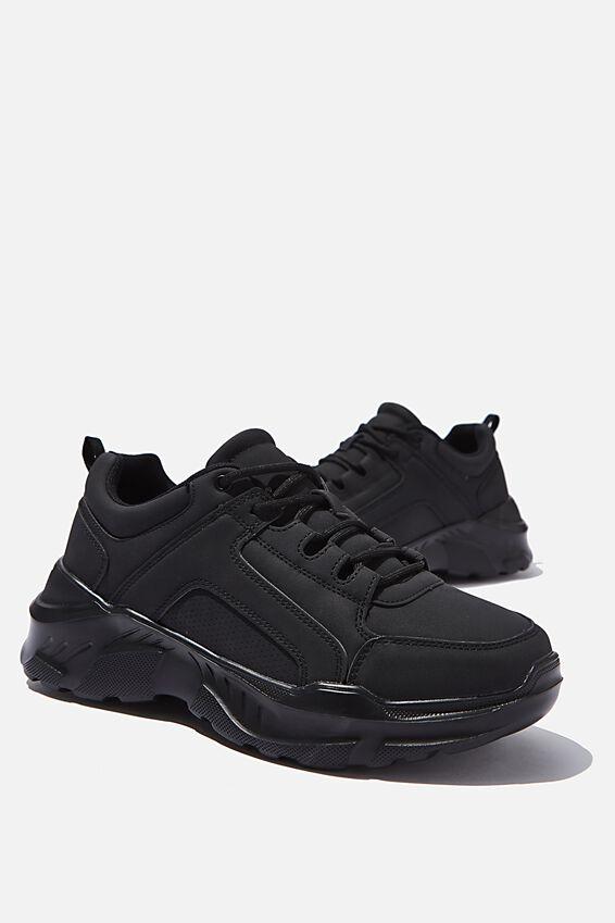 Felix Chunky Sneaker, BLACK PU