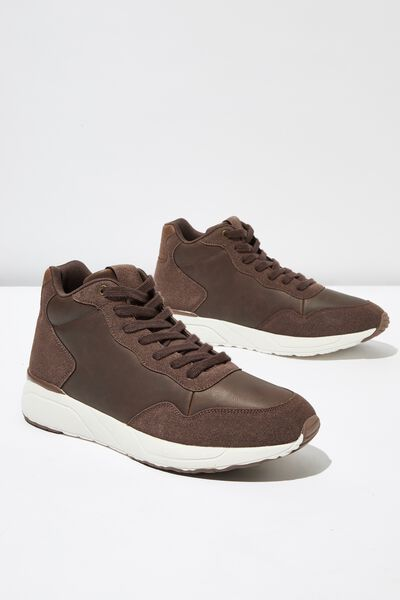 Marcel Sneaker Boot, BROWN/WHITE
