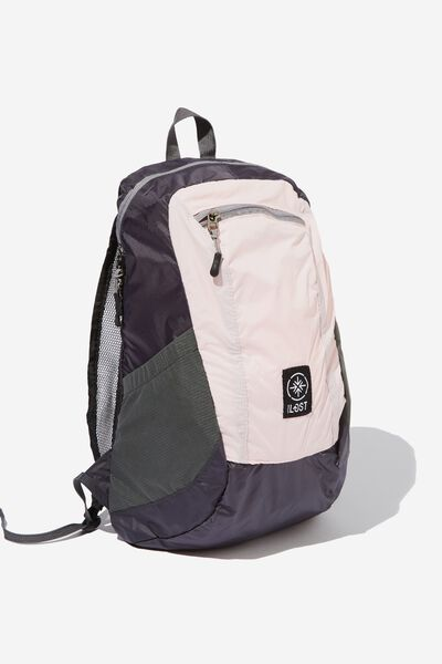 Packable Daypack, PINK GREY