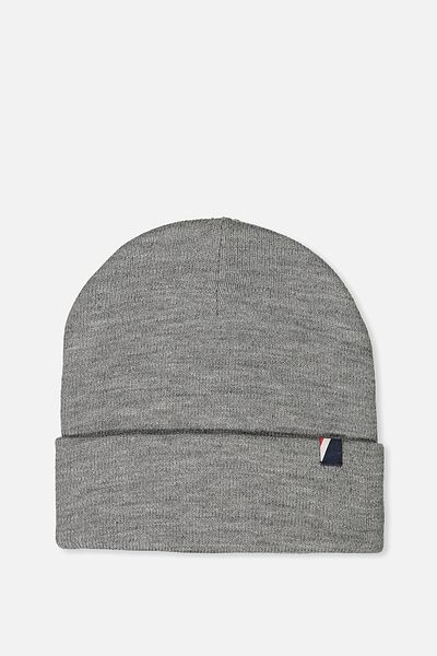 High Top Beanie, GREY MARLE