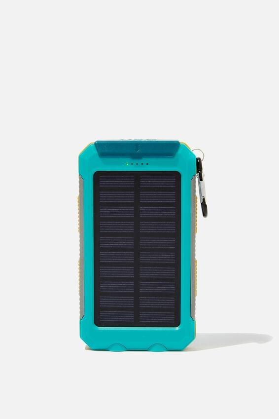 Explore Solar Power Bank 8000Mah, MINT GREEN