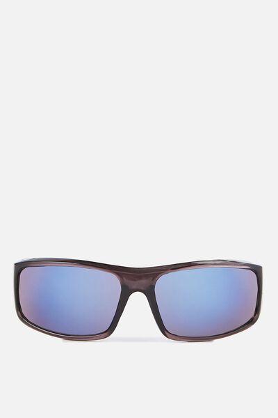 Chicago Sunglasses, CRYSTAL GUNMETAL/SMOKE BLUE