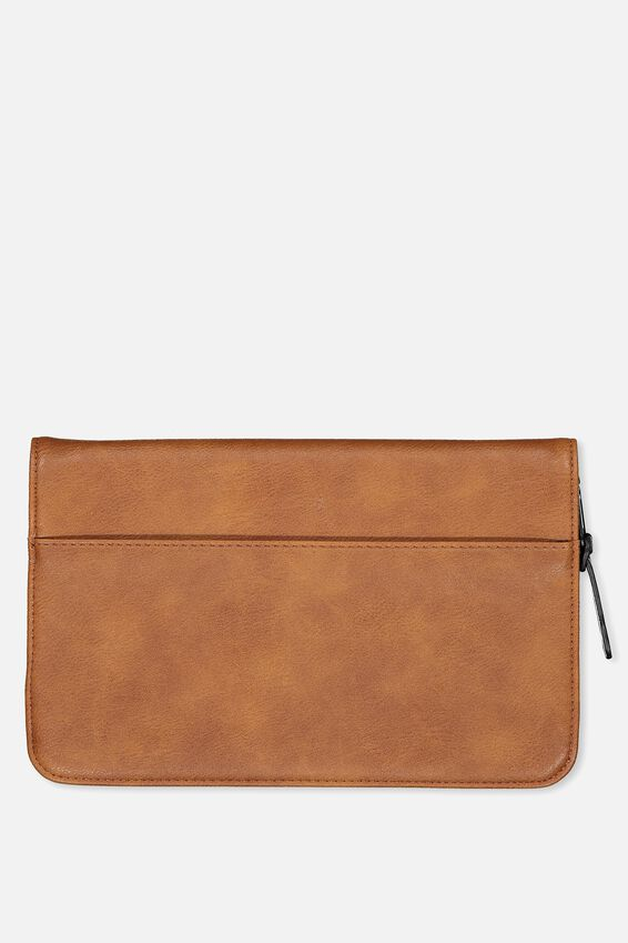 Travel Wallet, TAN