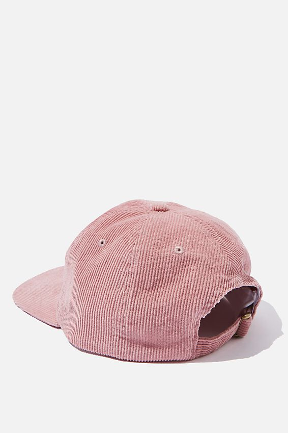 6 Panel Hat, DUSTY PINK/BLUE/HEAVY TIMES