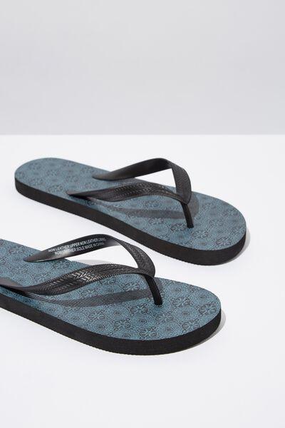 Bondi Flip Flop, BLACK/CIRCLE PAISLEY