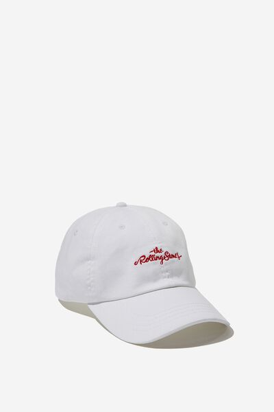 Strap Back Dad Hat, LC WHITE/THE ROLLINGSTONES SCRIPT