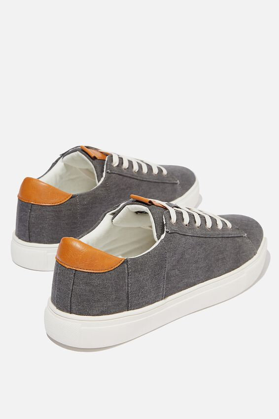 Dickson Classic Sneaker, WASHED BLACK/WHITE