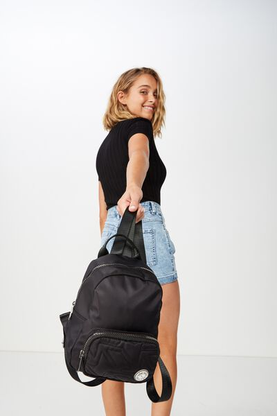 Pedestrian Mini Backpack, BLACK