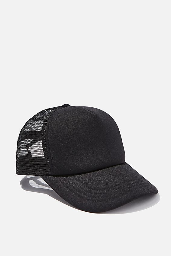 Wicked Print Trucker, BLACK