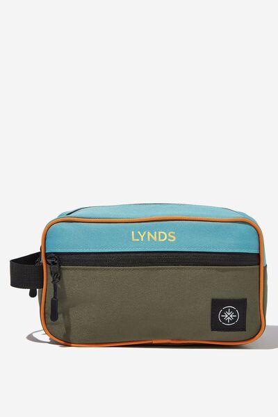 Personalised Transit Wash Bag, ORANGE BLOCK
