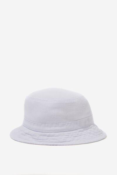 Bucket Hat, WHITE DENIM