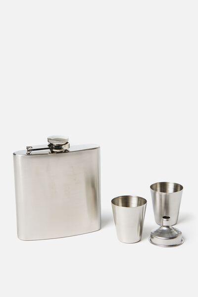 Flask Set, SILVER