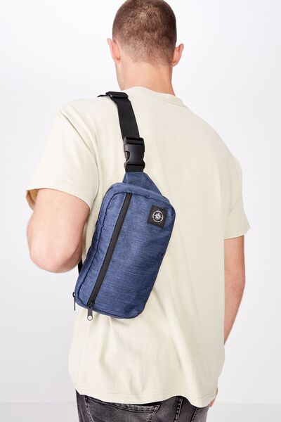 Transit Bumbag, NAVY CROSSHATCH