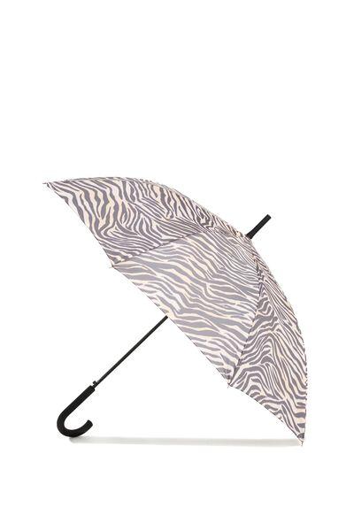 Splish Splash Large Umbrella, ZEBRA