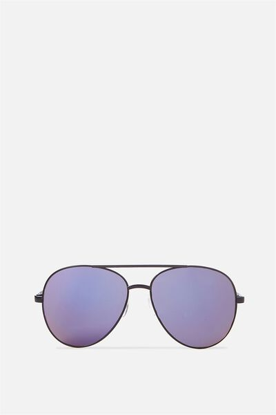 Simpson Sunnies, BLACK SHINY/PRYNNE BLUE