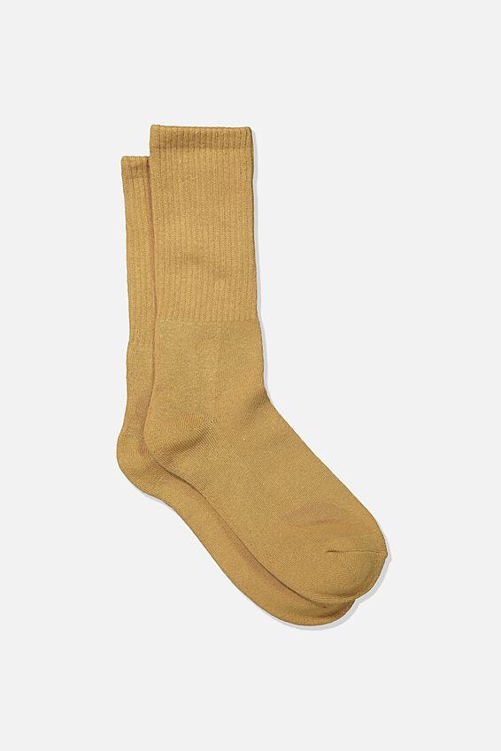 Single Pack Active Socks, CAMEL