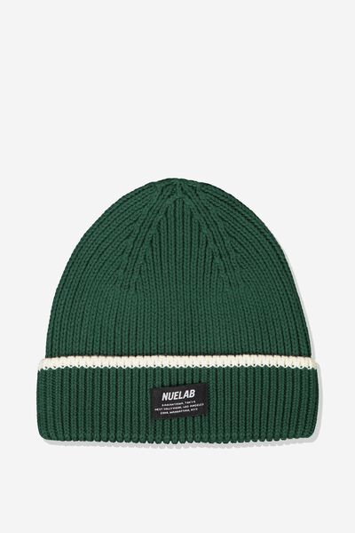 Biggie Beanie, POSY GREEN/WHITE STRIPE