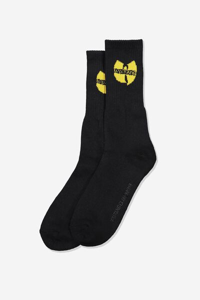 Single Pack Active Socks, LCN LIV BLACK/WU TANG