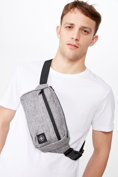 Transit Bumbag, GREY CROSSHATCH
