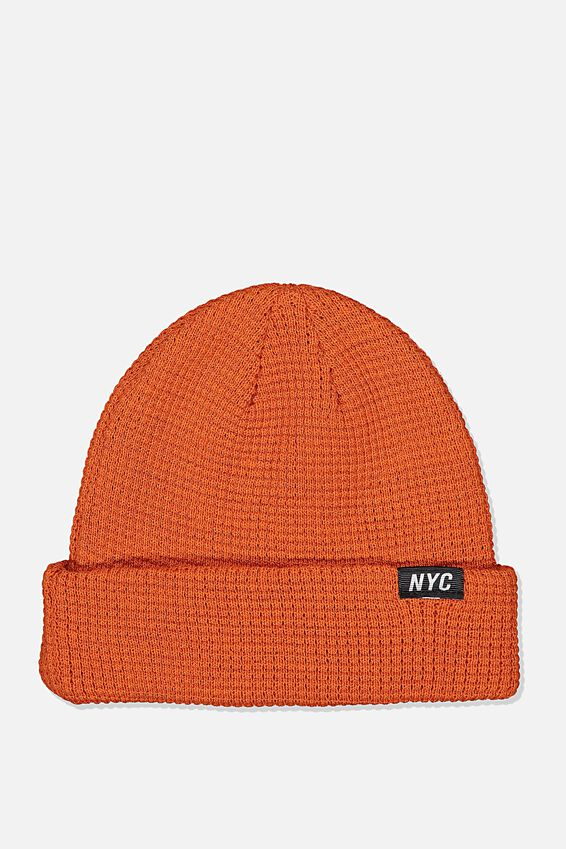 Hopper Beanie Nu, ORANGE/NYC