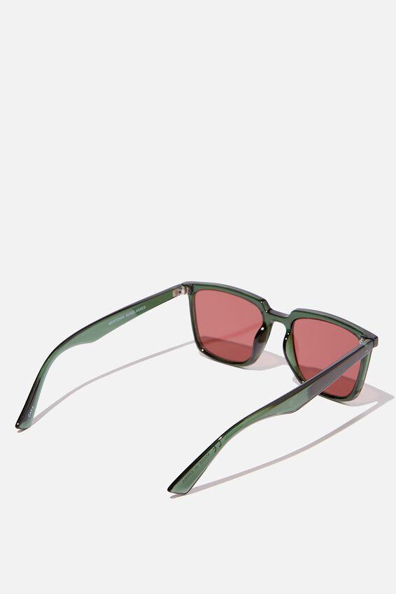 Newtown Sunglasses, GREEN/RED