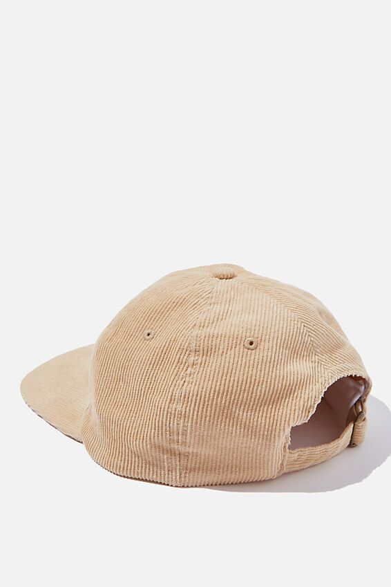 6 Panel Hat, SAND CORDUROY/RED/HEAVY TIMES