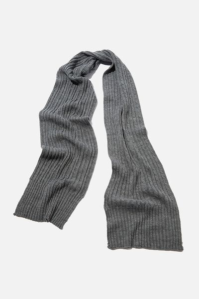 Chill Out Scarf, GREY MARLE/CABLE KNIT