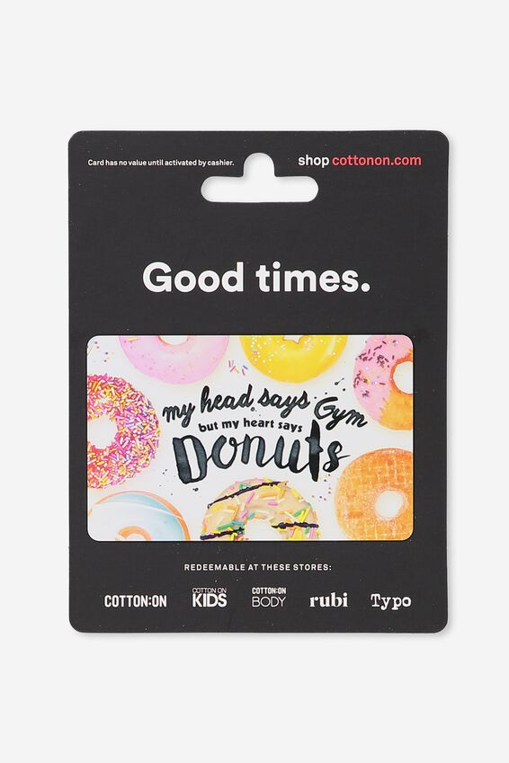 Cotton On & Co $50 Gift Card, Good Times Donuts