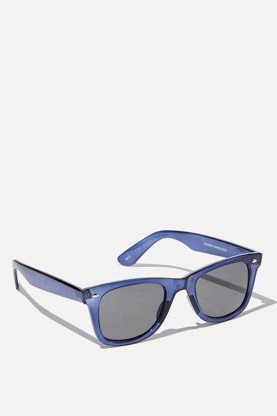 Kennedy Sunglasses, BLUE/SMOKE
