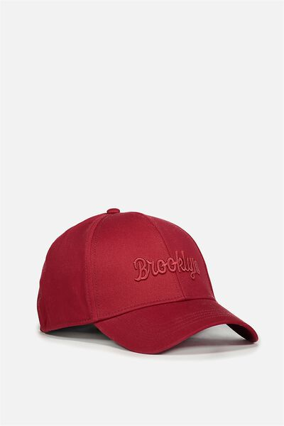 Outfield Fitted Cap, BARN RED/BROOKLYN