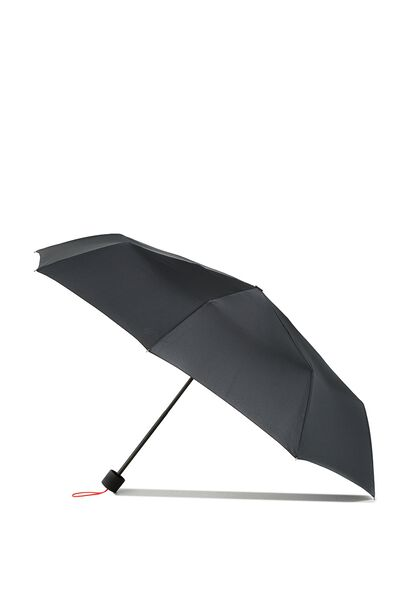 Splish Splash Medium Umbrella, BLACK/NEON CORAL