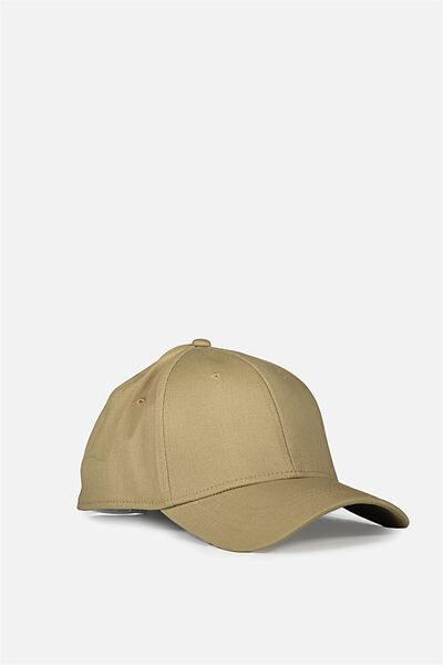 Outfield Fitted Cap, TAN/BLANK